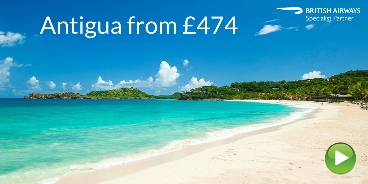 Antigua with British Airways from £474