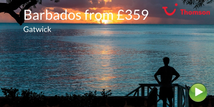 Barbados from Gatwick with Thomson from £359