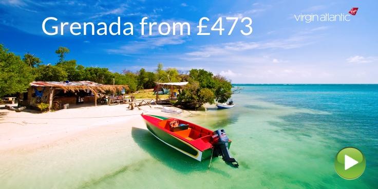 Grenada flights from 473 with Virgin Atlantic