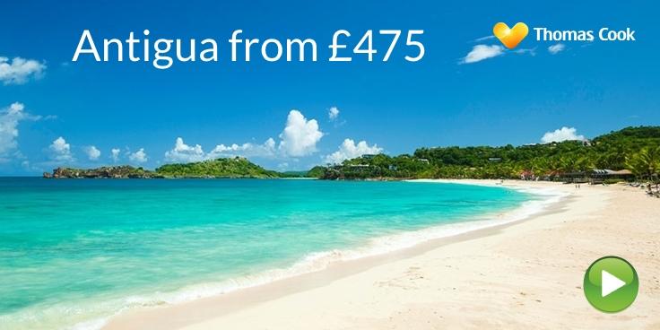 Antigua flights from £475